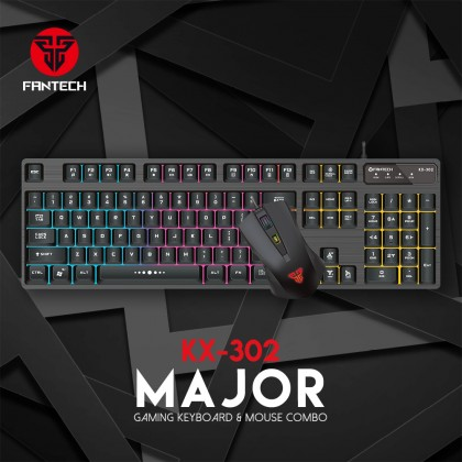 FANTECH KX-302 Major Gaming Keyboard and Mouse Combo Set