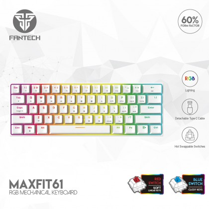Fantech MAXFIT61 RGB 60% - MAXFIT 61 Mechanical Gaming Keyboard for pc desktop and laptop