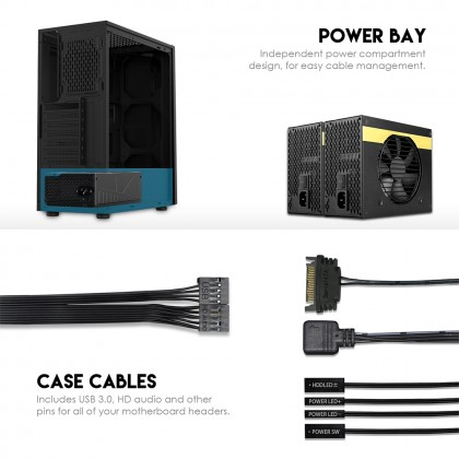 CG75 RGB MIDDLE TOWER CASE / PC CASE / PC CASING