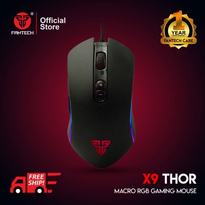 FANTECH THOR X9 WIRED MACRO RGB 4800DPI 7 BUTTONS GAMING MOUSE