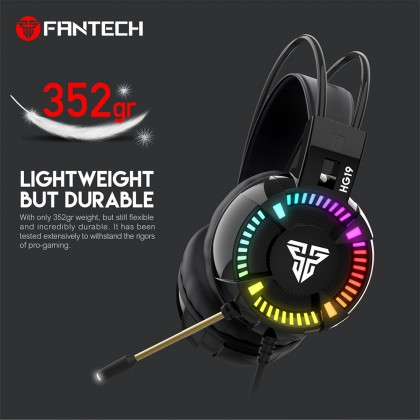 FANTECH HG19 IRIS Mid-Size Gaming Headset With Lighthing Effect Gaming Headset 3.5mm Wired Headset Rgb Gaming Headset