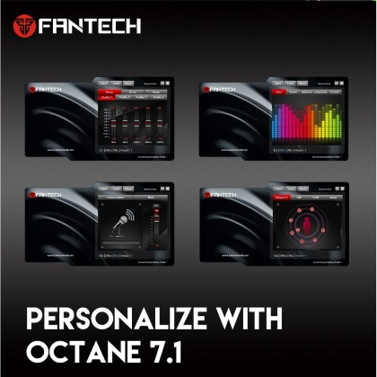Fantech HG23 Octane 7.1 RGB USB Headset Programable Gaming Headphones with Mic & Controller for PC & PS4