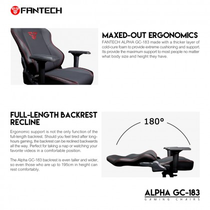 FANTECH ALPHA GC-183 Stability Gaming Chairs With Strong Nylon Plastic Base
